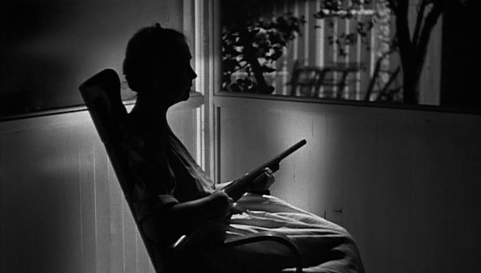 The Night of the Hunter - 1955, Charles LaughtonThe Rev. Harry Powell (Robert Mitchum) is a religious fanatic and serial killer who targets women who use their sexuality to attract men. Serving time in prison for car theft, he meets condemned murderer Ben Harper (Peter Graves), who confesses to hiding $10,000 in stolen loot. Released from jail, Powell is obsessed with finding the money, and he tracks down Harper's widow, Willa (Shelley Winters), and her two children, John (Billy Chapin) and Pearl (Sally Jane Bruce).