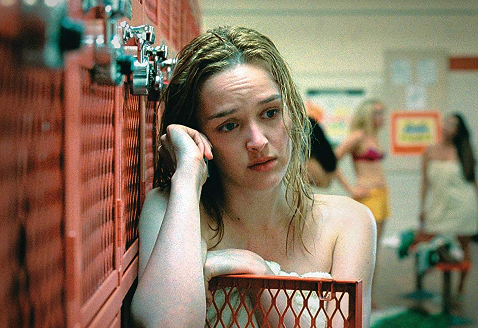Teeth - 2007, Mitchell LichtensteinDawn (Jess Weixler) is an active member of her high-school chastity club but, when she meets Tobey (Hale Appleman), nature takes its course, and the pair answer the call. They suddenly learn she is a living example of the vagina dentata myth, when the encounter takes a grisly turn.