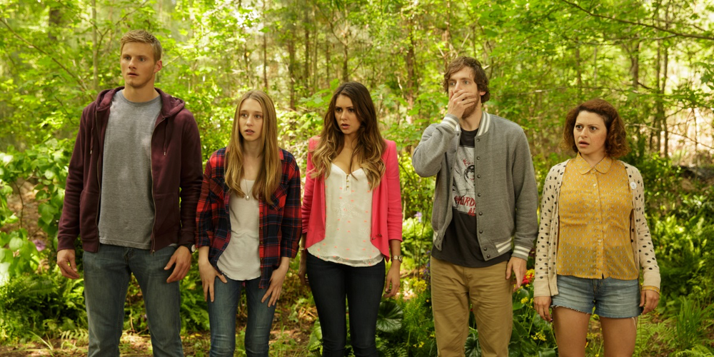 The Final Girls - 2015, Todd Strauss-SchulsonMax, recently orphaned, goes to see a screening of a B-horror movie that her mother made 20 years earlier. When Max and her friends find themselves in the world of the film itself, they must apply their knowledge of horror tropes to survive.