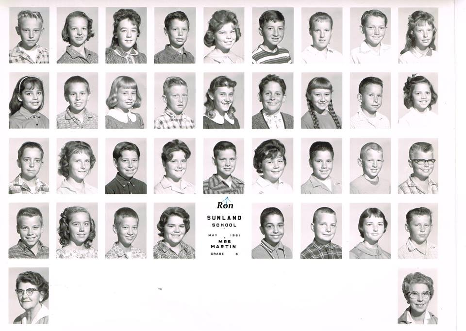 From Ron Hunt... Sunland School 1961 with Mrs. Martin..