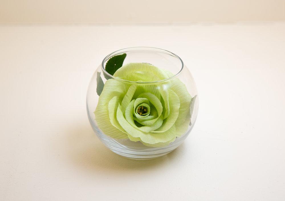 Flower Vase Green Rose & Flower Vase: Green Rose \u2014 Joy With Paper