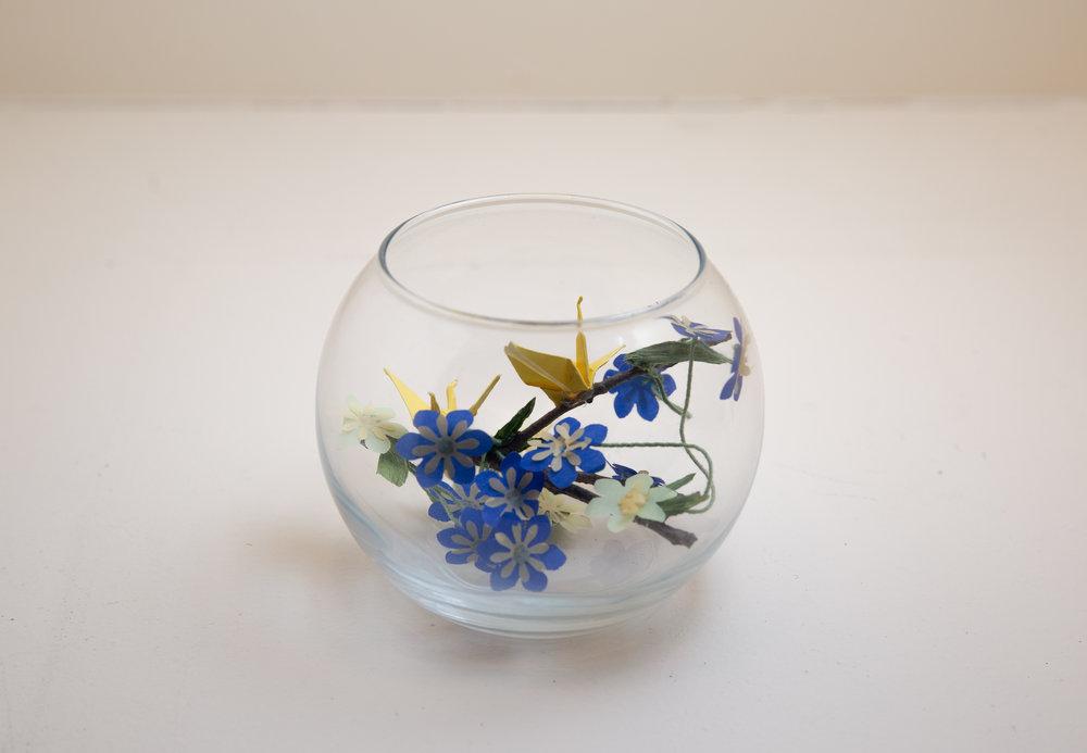Flower Vase Origami Scene & Flower Vase: Origami Scene \u2014 Joy With Paper