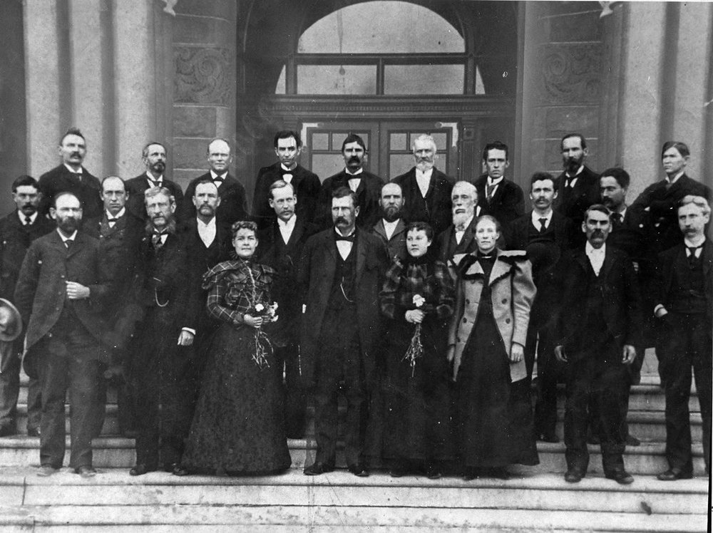 1896 Utah State Senate, Martha Hughes Cannon first row on the left.