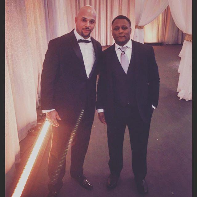 Just two guys talking about @youngwarriorsla #YoungWarriors #TurningBoysToMen #Mentors #FatherlessNoMore #BlackTie #BarrySanders #HOF #SuperBowlWeekend