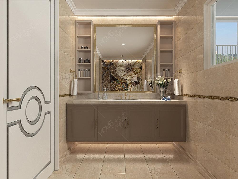 Khu vực nhà vệ sinh cũng được chú ý đến mọi chi tiết nhỏ, mang lại sự tiện nghi cho toàn bộ không gian căn hộ.