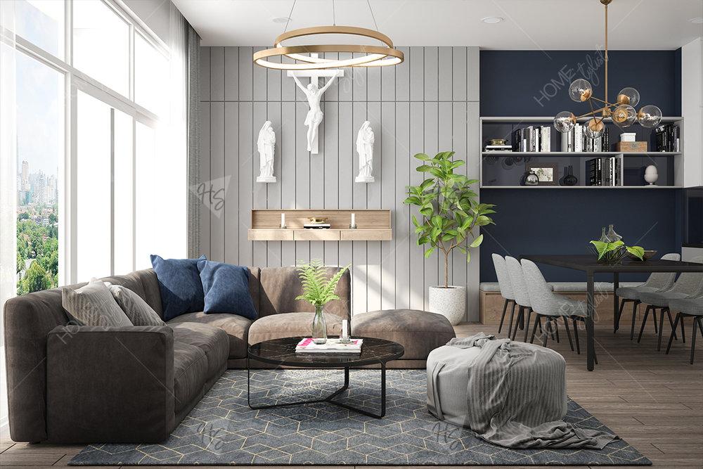 Thiết kế nội thất căn hộ phong cách Scandinavian tinh tế tiện nghi