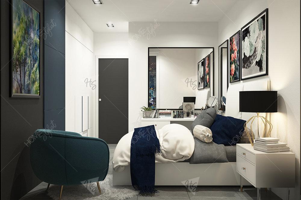 Họa tiết trang trí trong phòng ngủ của căn hộ