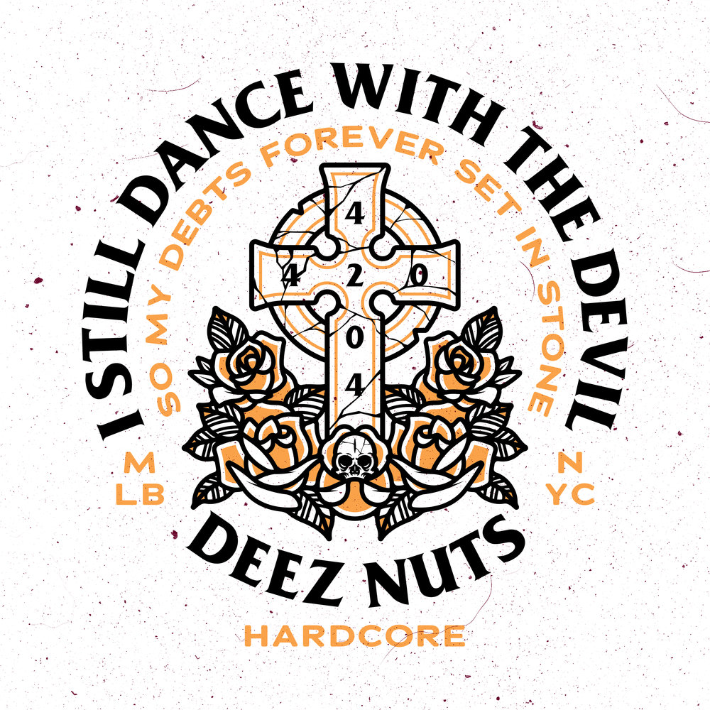 A DESIGN FOR LOCAL MELBOURNE HARDCORE BAND DEEZ NUTS