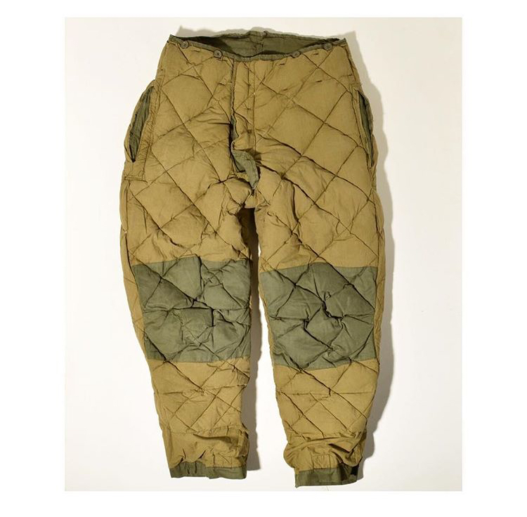 1940's quilted pants.