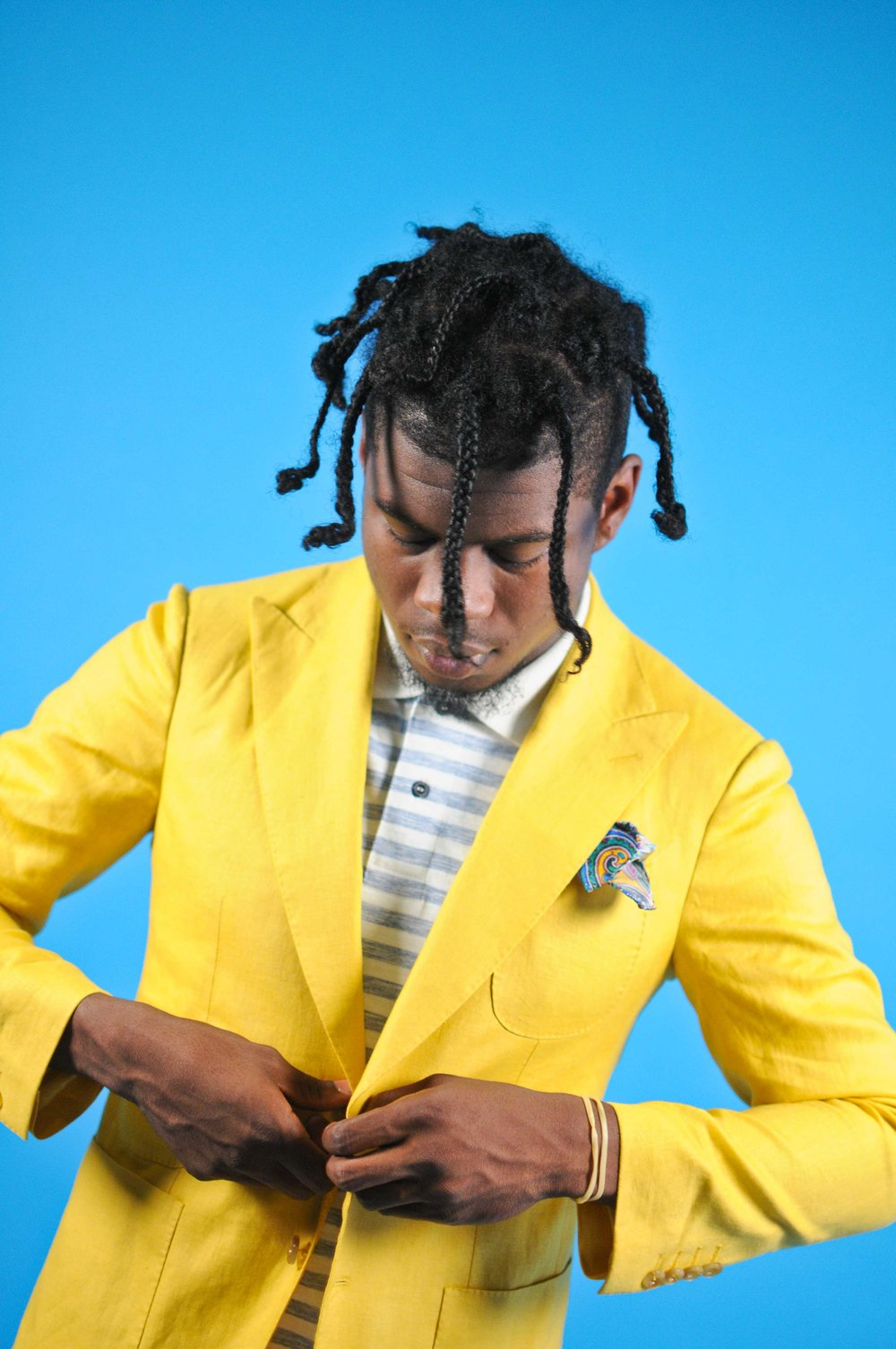 Yellow Sports jacket by Ayehommes  Polo Shirt by G Star