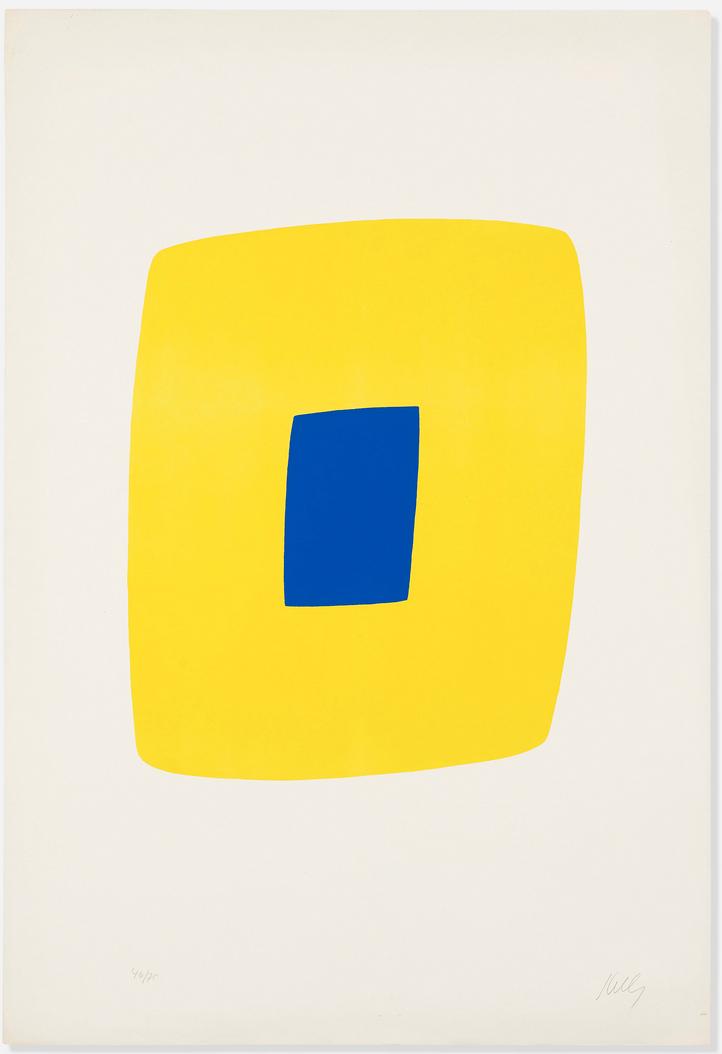 Ellsworth Kelly - Yellow with Dark Blue