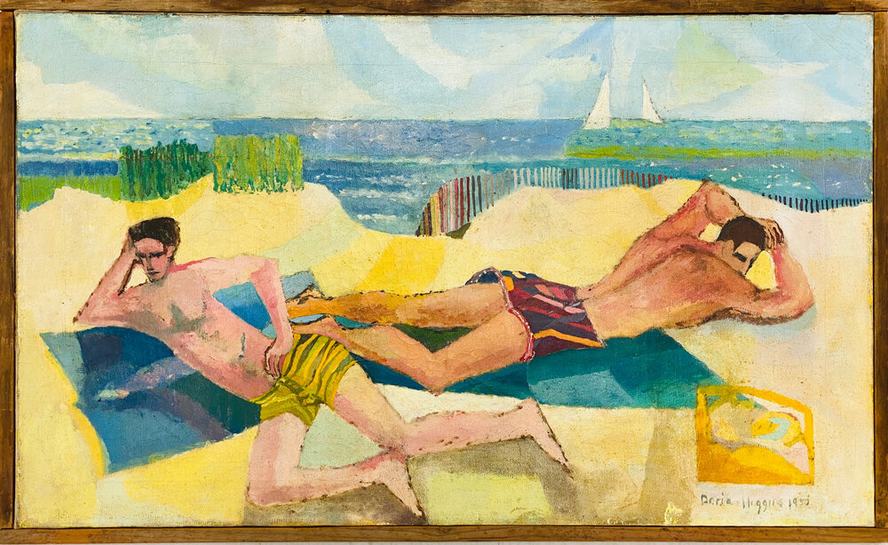 Doria Higgins - Untitled (two men sunbathing Provincetown)