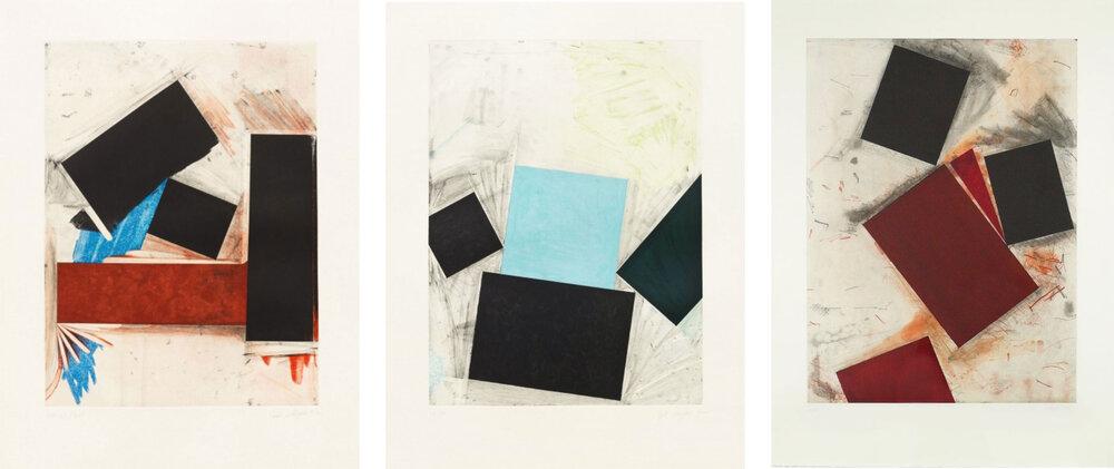 Joel Shapiro - Untitled 1,2 & 3