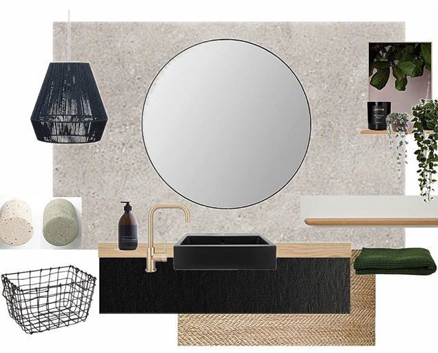 Concept board for a recent bathroom makeover. @venturearch  #venturearchitectural #interiordesign #nzdesign #interiors #instadecor #bathroomdecor #bathroomdesign #bathroominspo #architecture #design #concrete