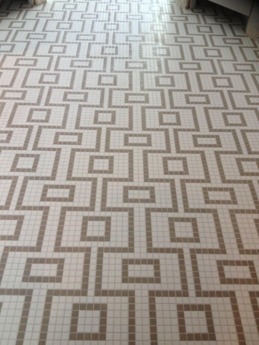 Stunning mosaic entrance floor tiling