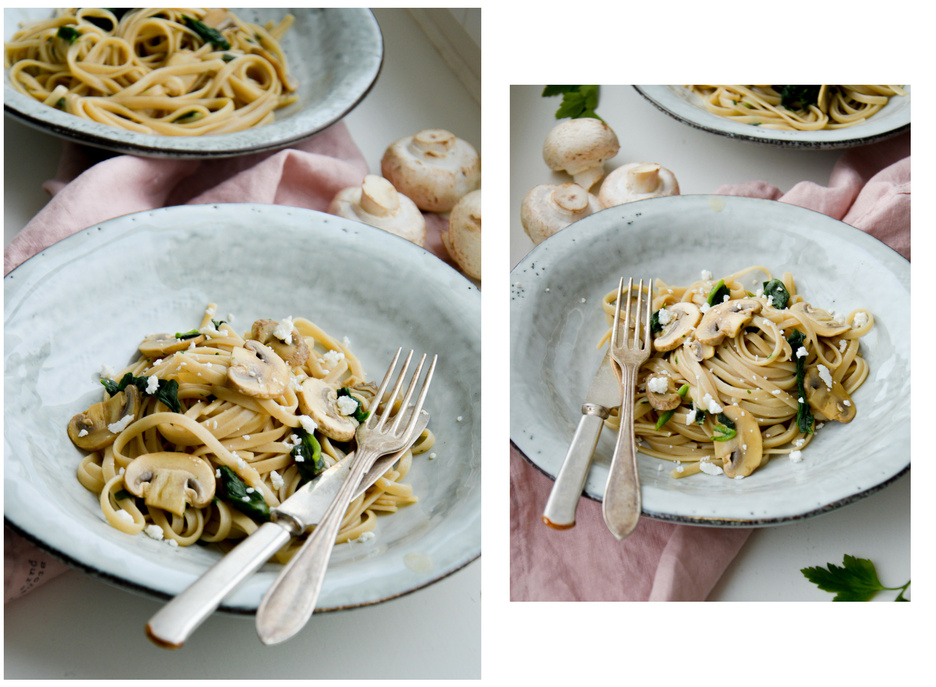 Vegetarian pasta with mushrooms by The Nordic Kitchen