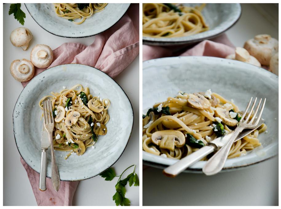 Vegetarian pasta with mushrooms by 北欧厨房