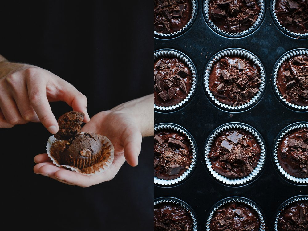 Double Chocolate Muffins: vegan and glutenfree. The Nordic Kitchen.