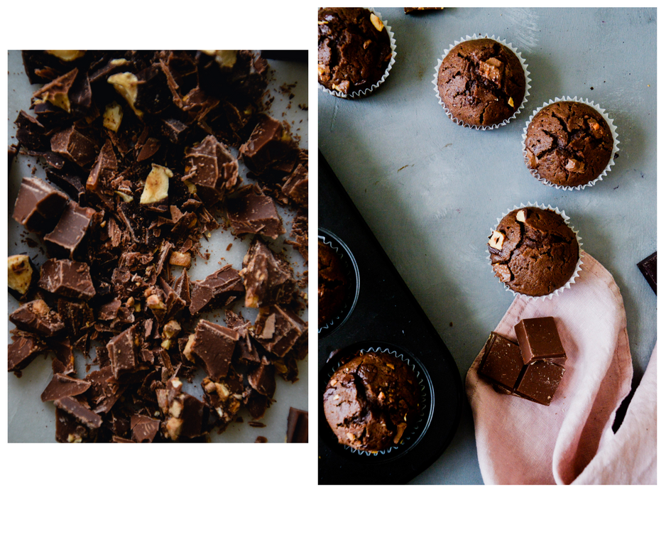 Double Chocolate Muffins: vegan and glutenfree | The Nordic Kitchen.