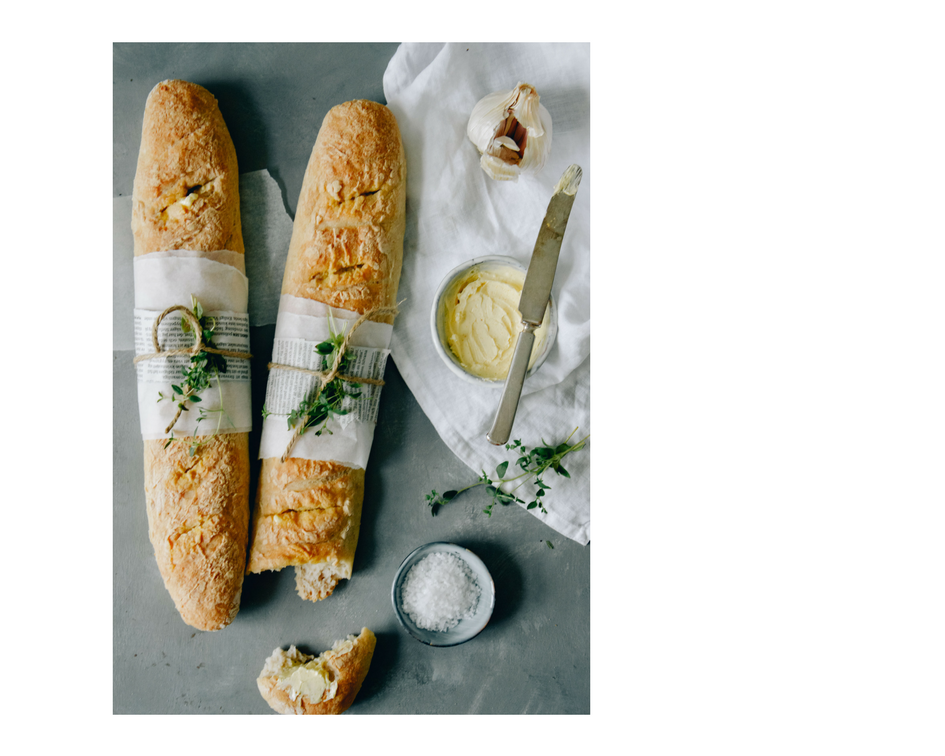Glutenfree garlic baguettes by The Nordic Kitchen