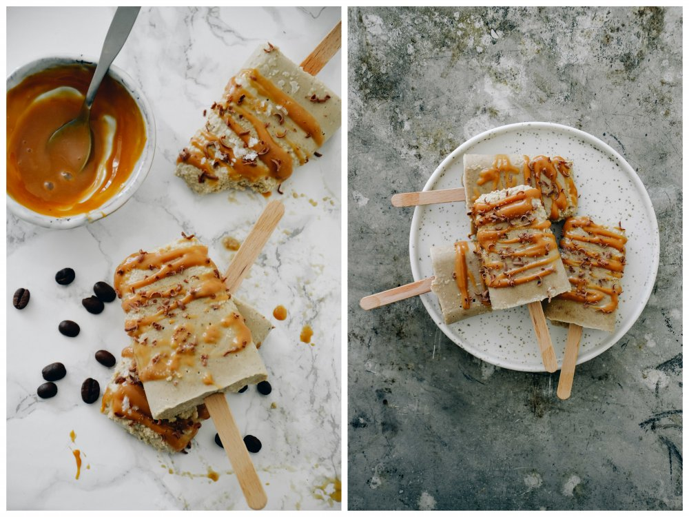 Mocca Popsicles with Salted Caramel | You need these in your life.