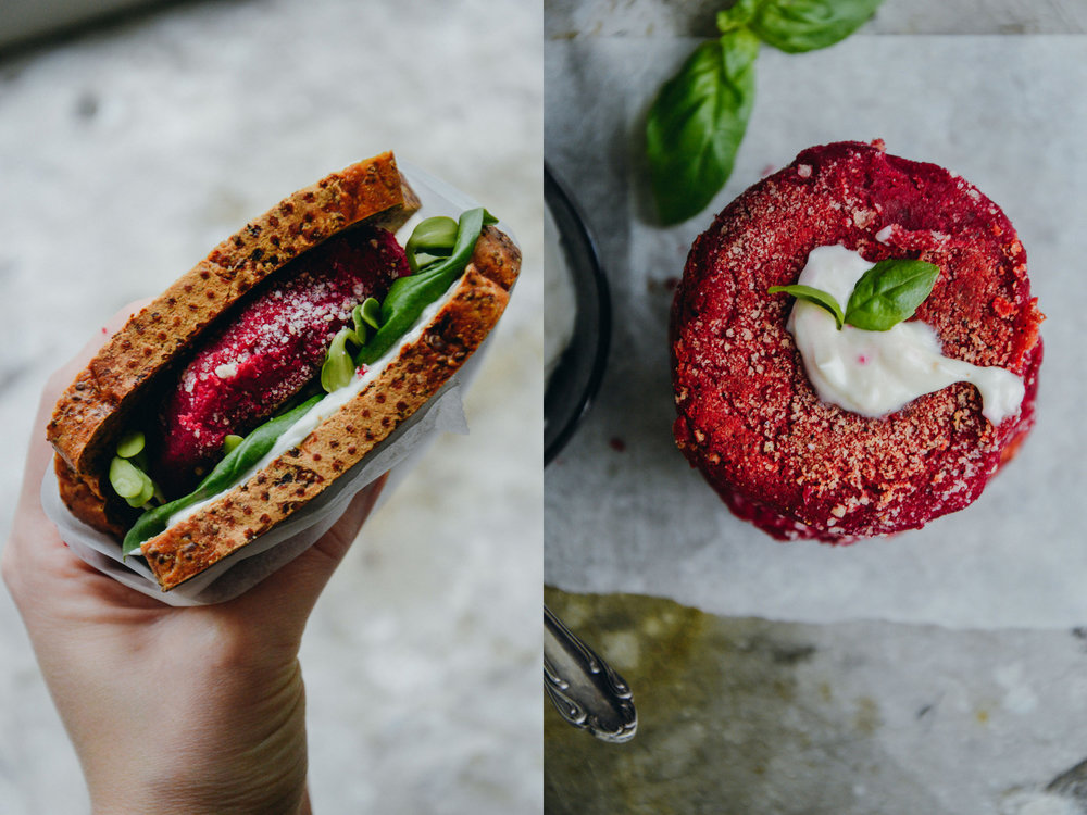 甜菜根汉堡,无麸质& vegan | 北欧厨房