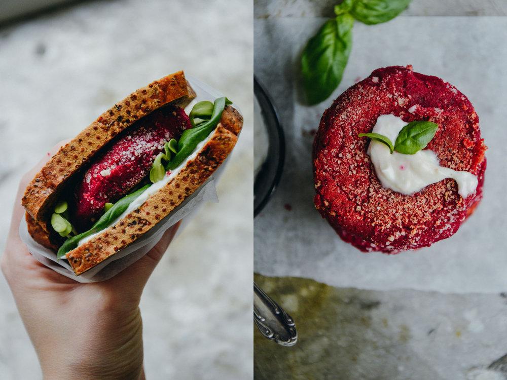 Beetroot burgers, glutenfree & vegan | The Nordic Kitchen
