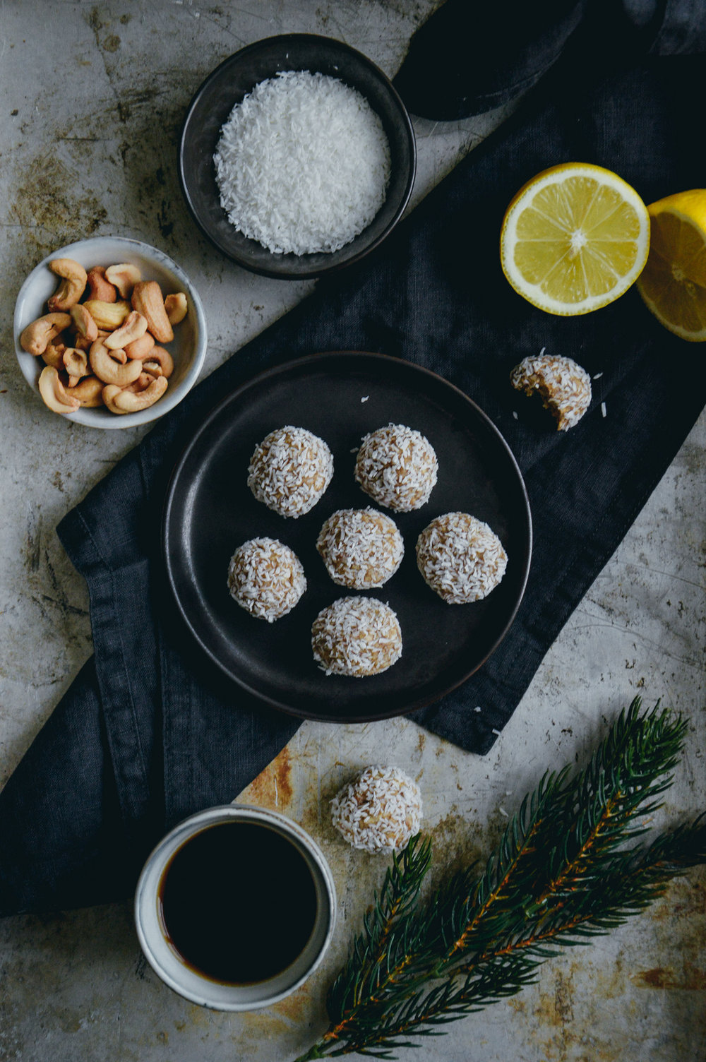 Vegan cashew truffles with lemon | 北欧厨房