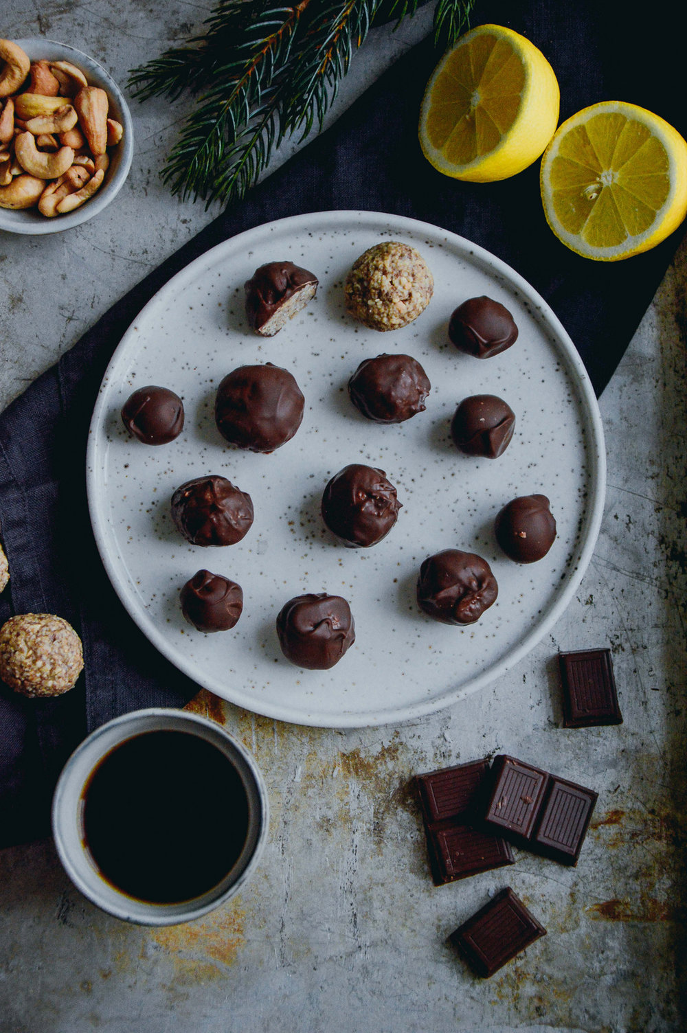 Vegan cashew truffles with lemon | The Nordic Kitchen