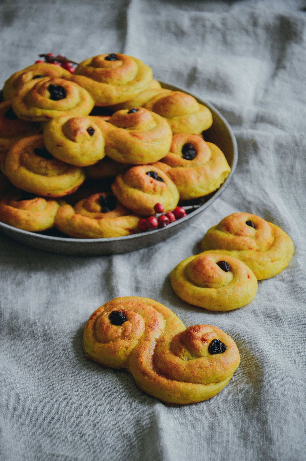Glutenfree saffron buns | glutenfria lussekatter via The Nordic Kitchen