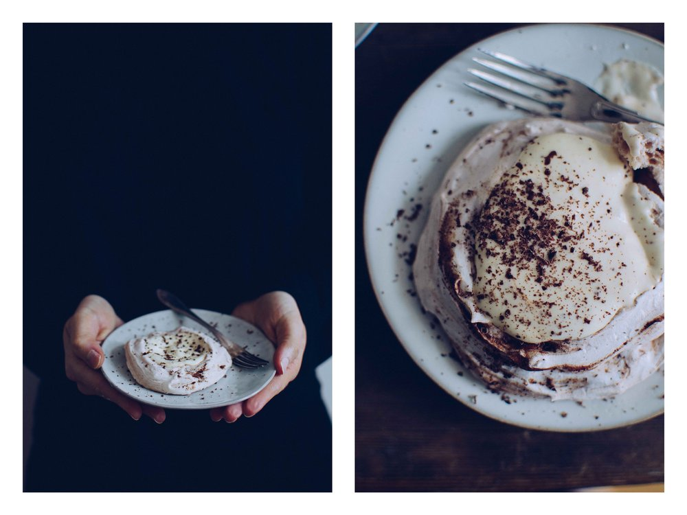 Vegan mini pavlovas with chocolate | The Nordic Kitchen