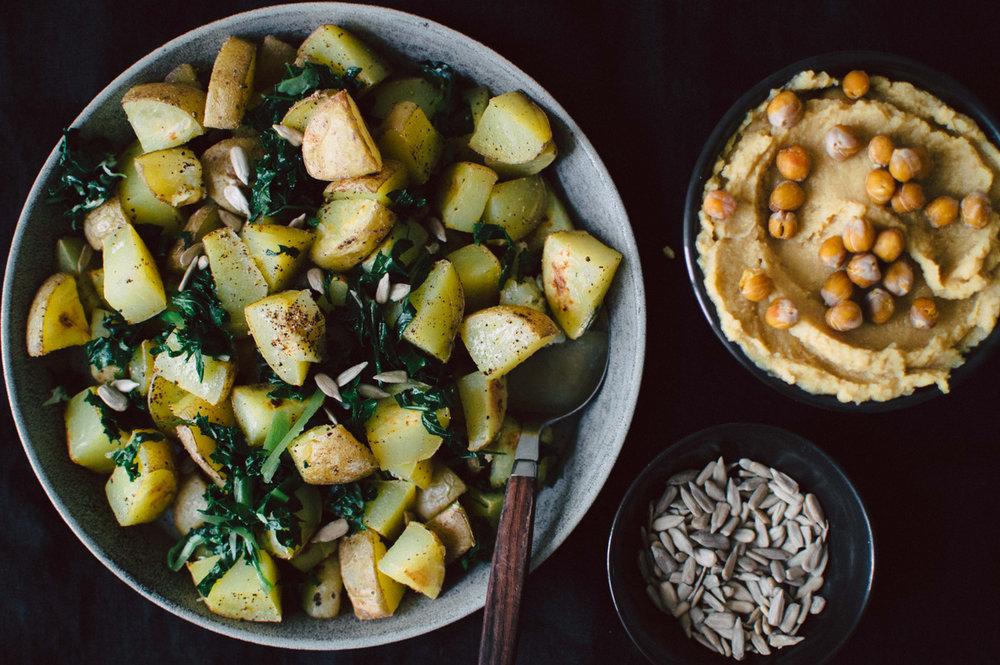 烤土豆&鹰嘴豆泥|北欧厨房