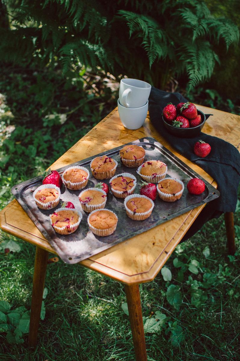 Strawberry Muffins | The Nordic Kitchen