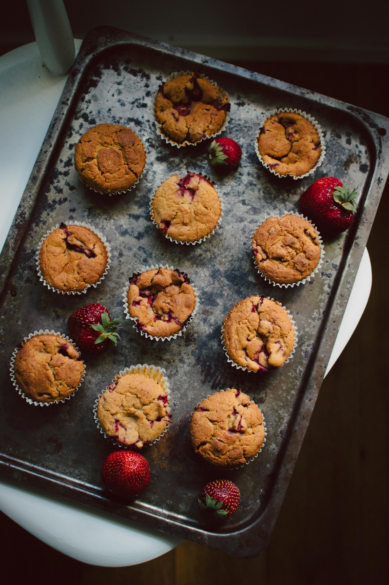 Strawberry Muffins | The Nordic Kitchen