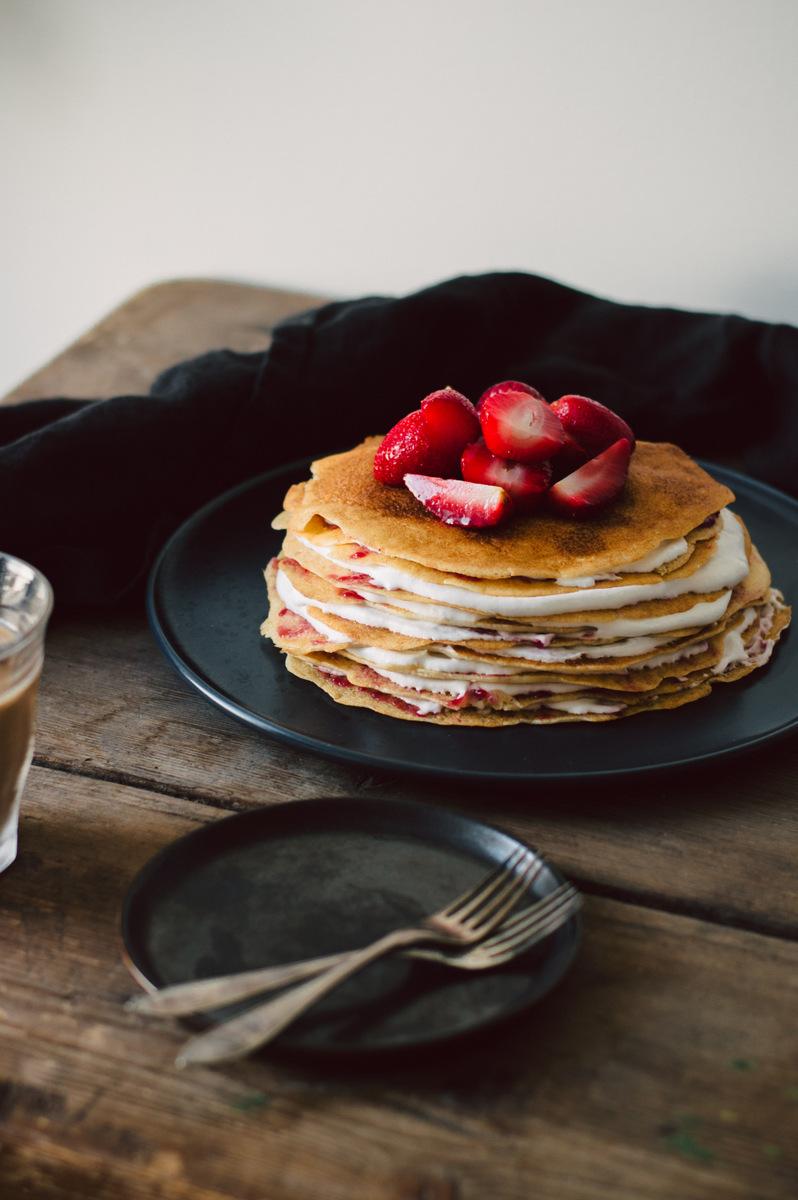 Vegan Pancake Cake | The Nordic Kitchen
