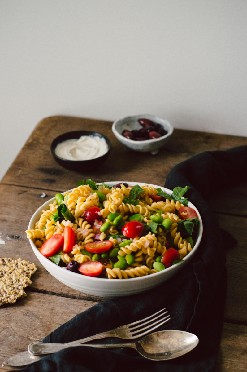Pasta Salad with soybeans and balsamic vinegar dressing | The Nordic Kitchen