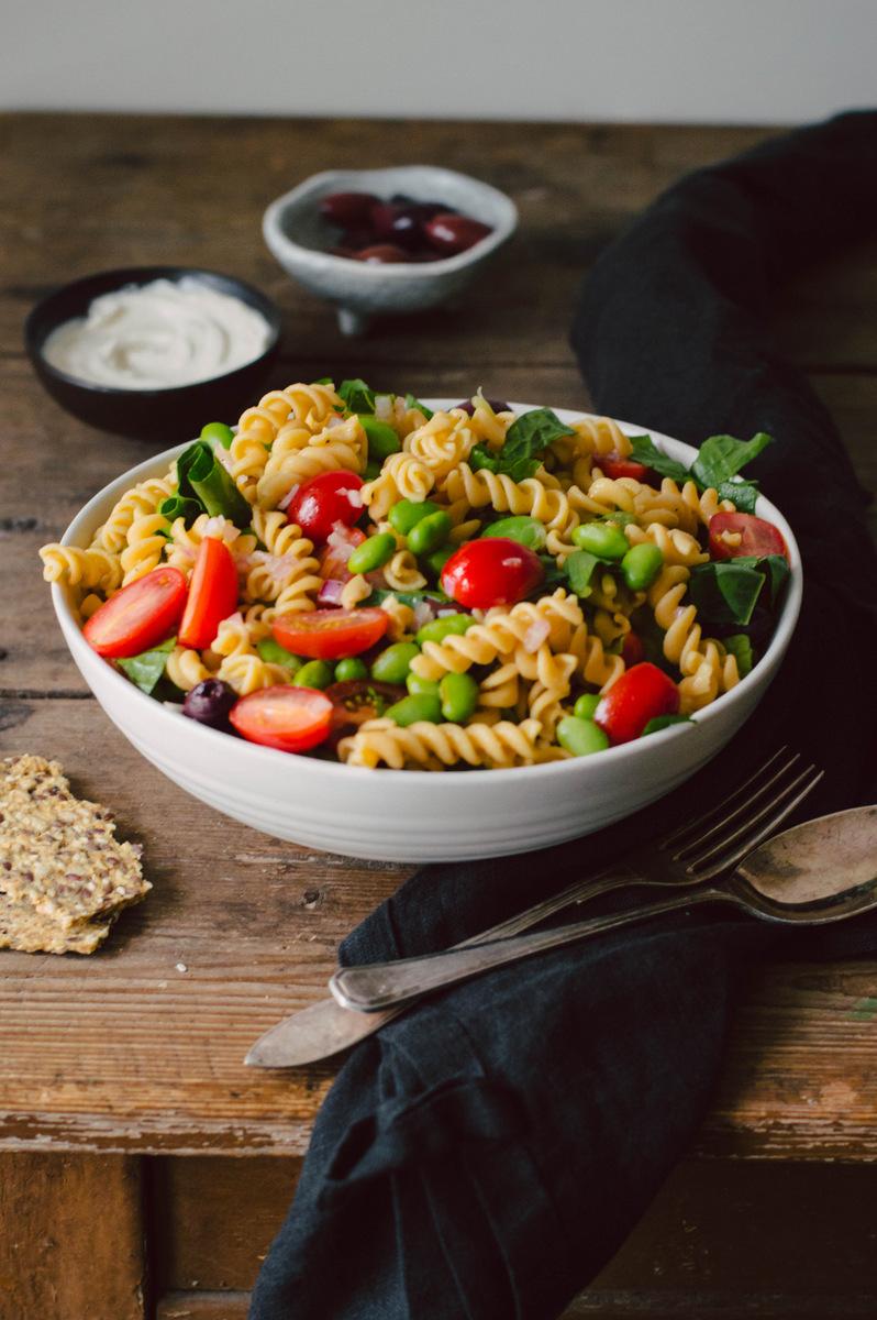 大豆和意大利黑醋酱意大利面沙拉|北欧厨房
