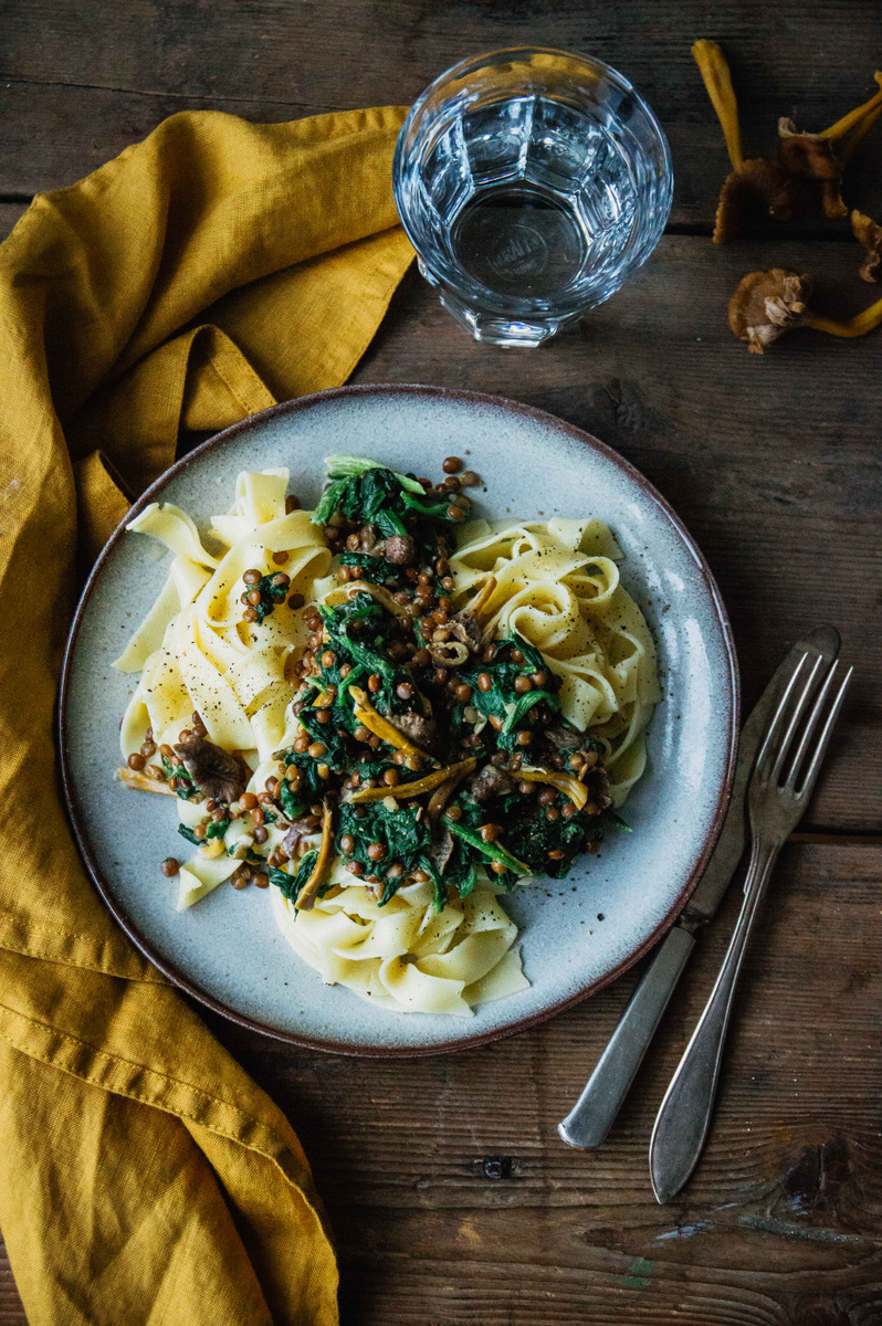 Truffle Pasta with chanterelles | vegan | The Nordic Kitchen