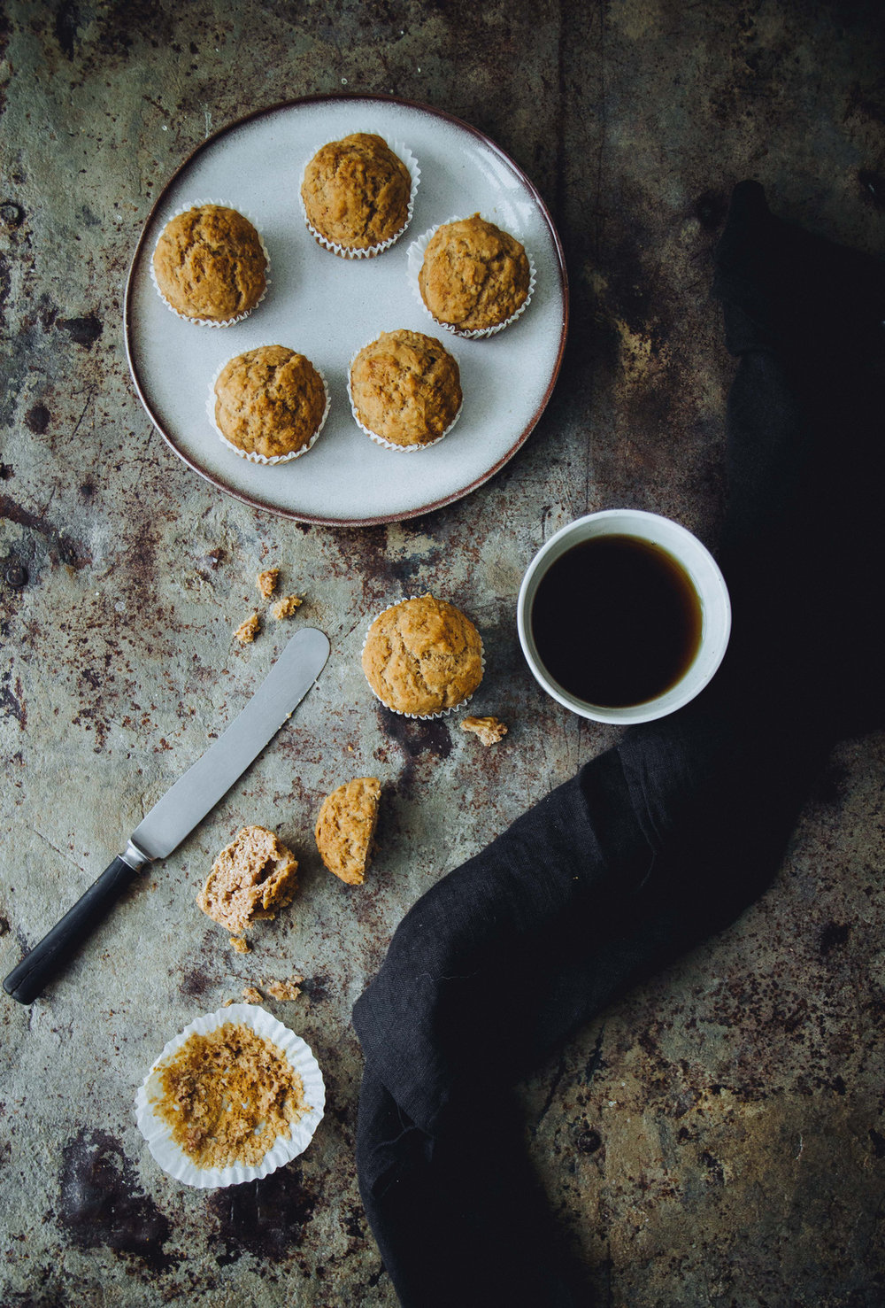 Banana bread muffins with blueberries   The Nordic Kitchen