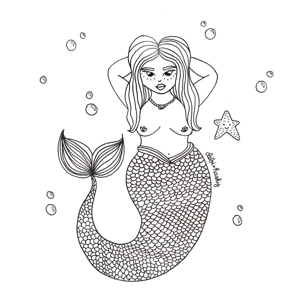 inktober day 5 mermaid.jpg