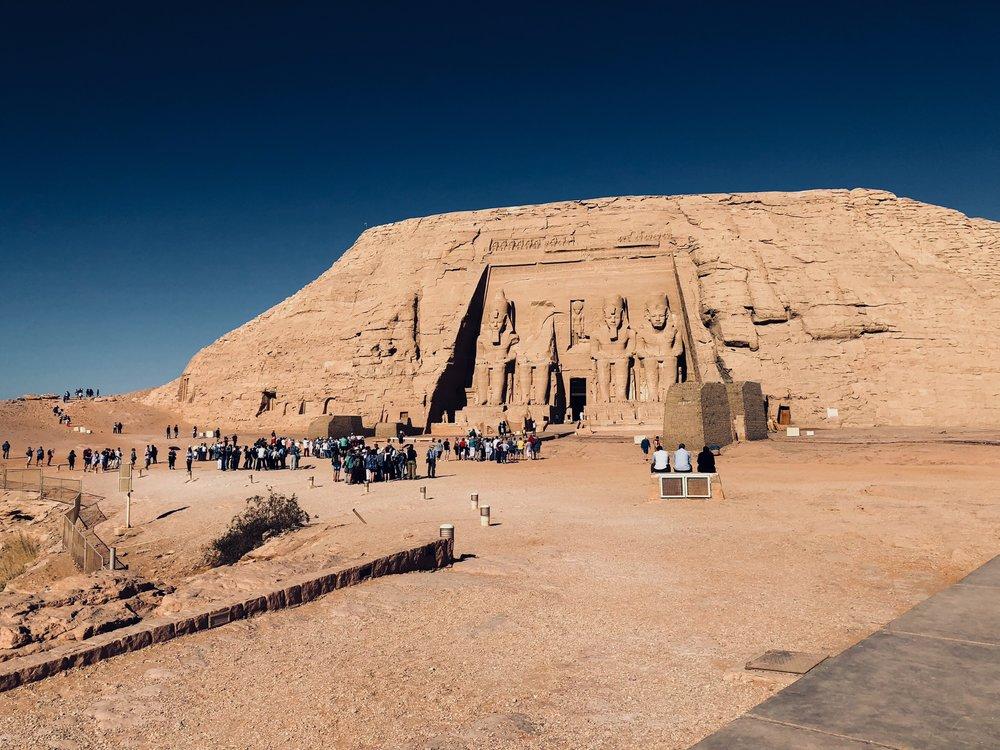 Abu Simbel Temple complex in Nubia