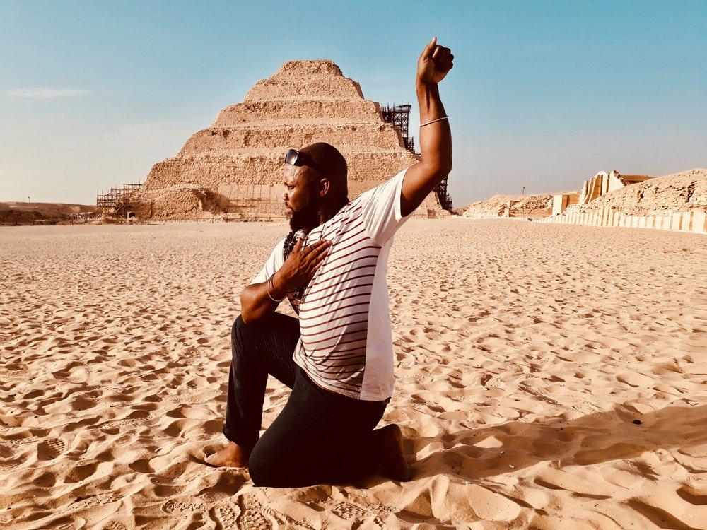 Pose of Ampu at Saqqara