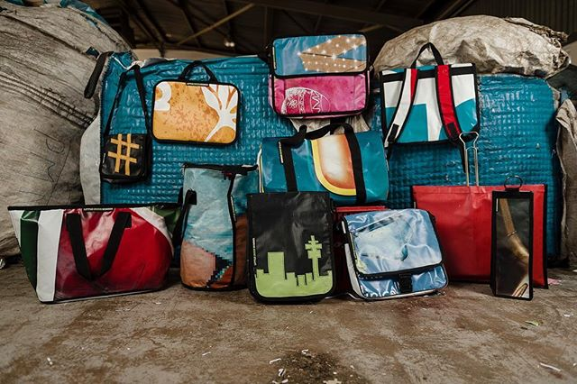 Sneak peek of what went down today! #recycle #upcycle #waste2wow #seriousaboutrecycling #billboard #bags @wynandvandermerwephotography #proudlysa #buylocal