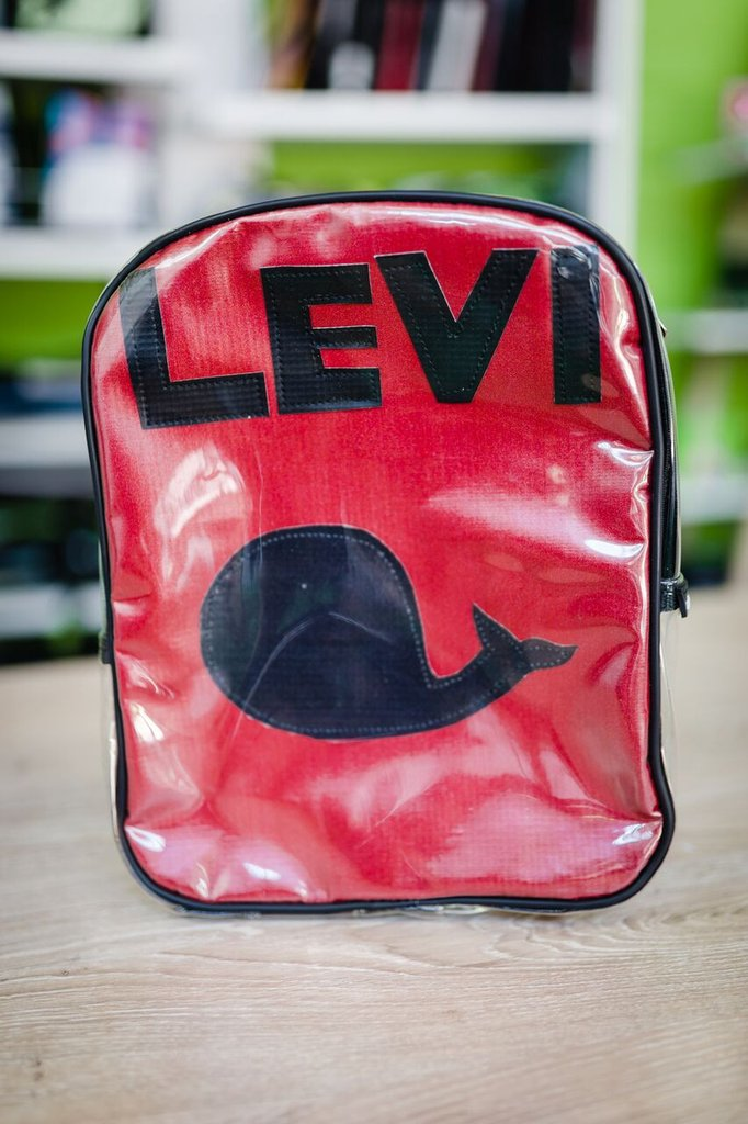 Little 1 back pack child name backpack pvc