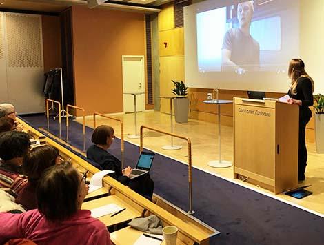 """hanna wendeler - Så lockar vi tjejer till Teknikprogrammet"""" – Skanskagymnasiets Hanna Wendeler berättade om skolans och företagets arbete med etikfrågor, värderingar och likabehandling."""