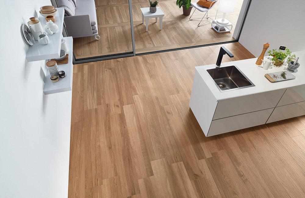 Sherwood Brown Wood Effect Porcelain Floor Tiles