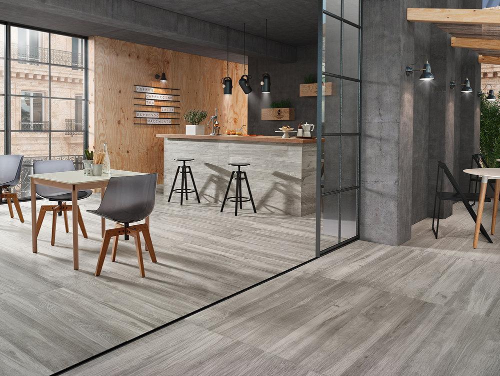 Sherwood Grey Wood Effect Porcelain Floor Tiles