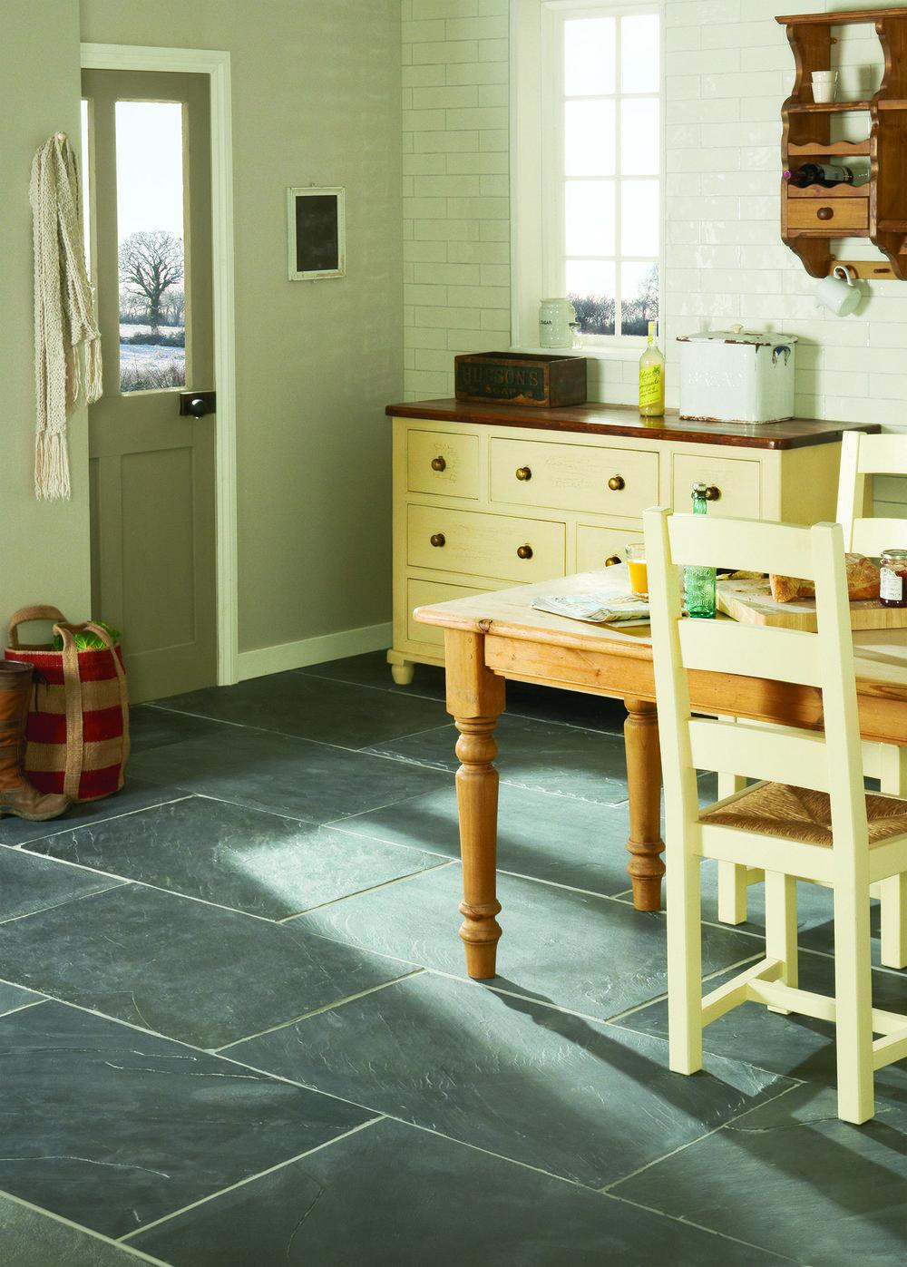 Earthworks Black Flag Slate Floor Tiles