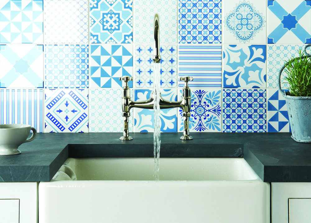 Odyssey Tapestry Blue Ceramic Wall Tiles