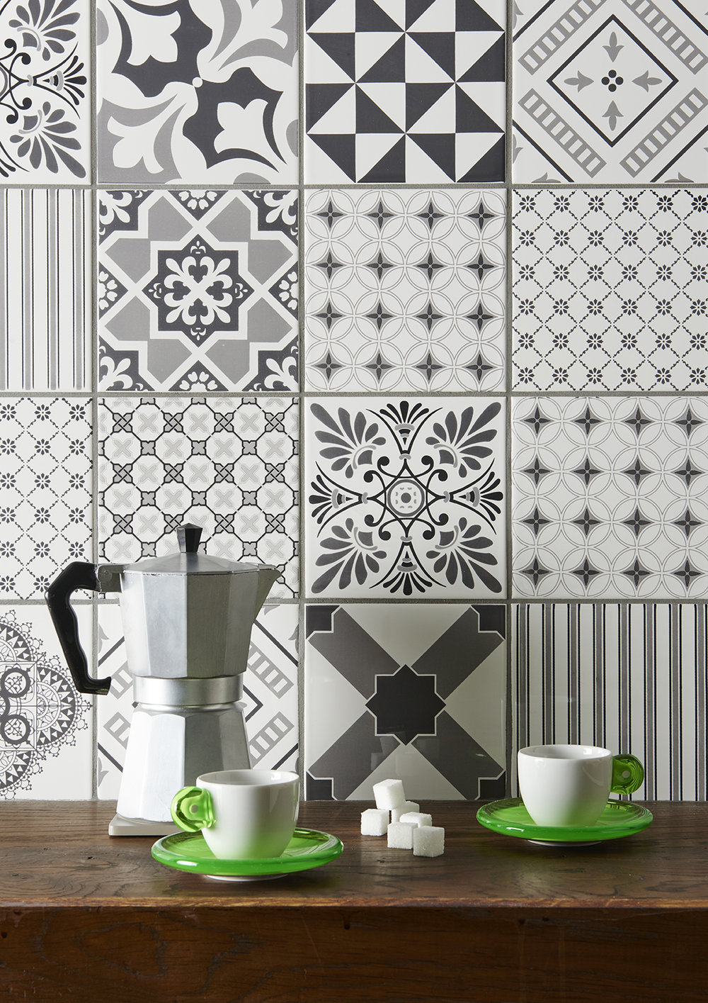 Odyssey Tapestry Grey Ceramic Tiles